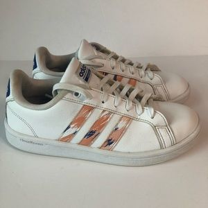 Adidas Cloudfoam Advantage Coral Stripe Sneakers